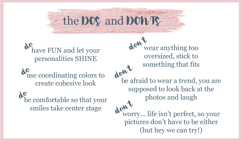 Family Photo do's and don'ts