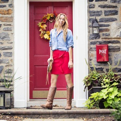 How to Wear Red: One Skirt Four Ways