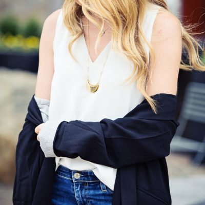 Foolproof #OOTD: The Perfect Silk Tank + Blazer