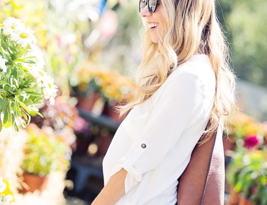 Effortless style - white tunic and denim