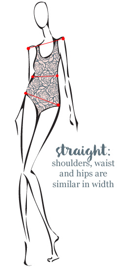 How to dress a straight body type