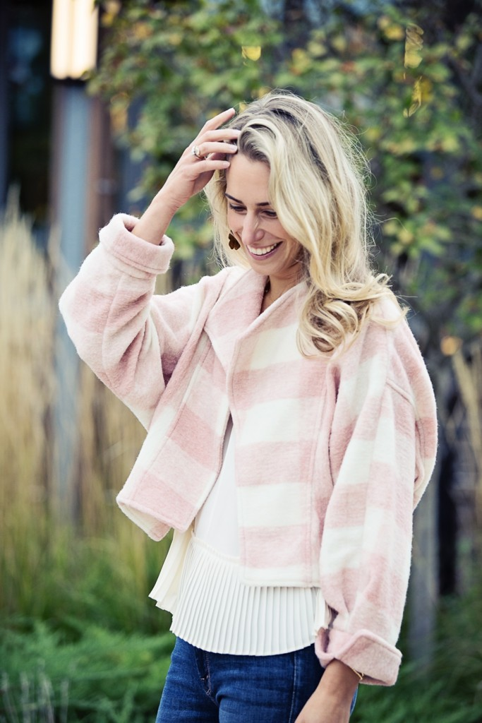 blushed buffalo plaid jacket