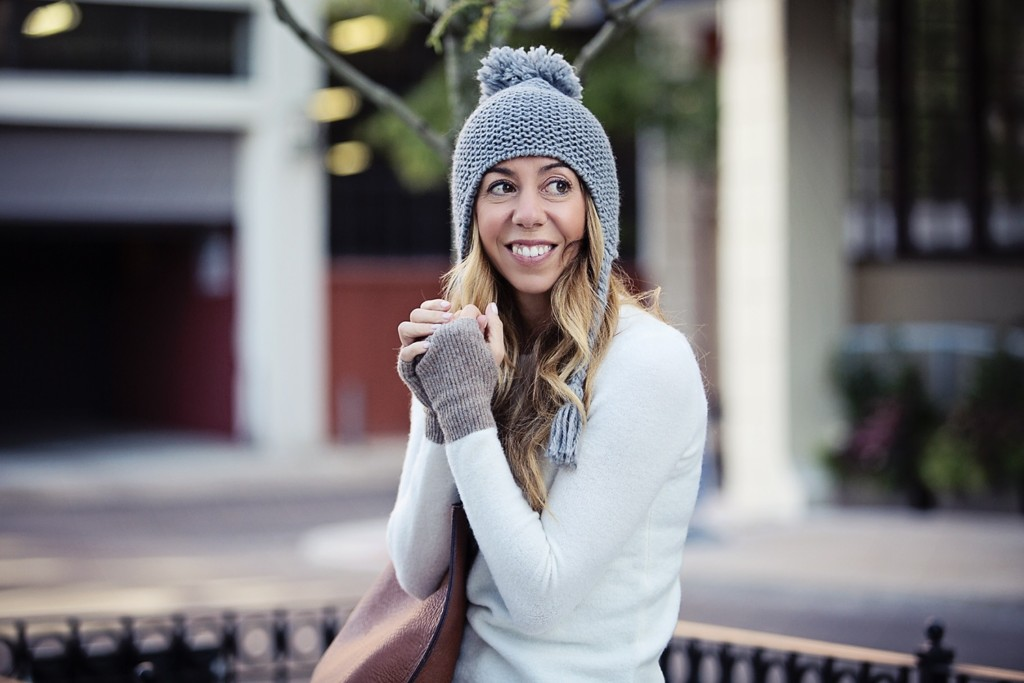 The Motherchic wearing madewell sweater