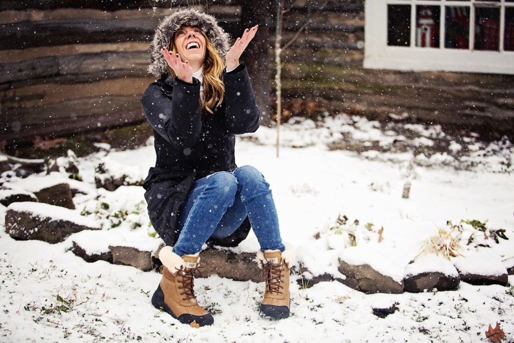 The Motherchic wearing Ugg Adirondack boots