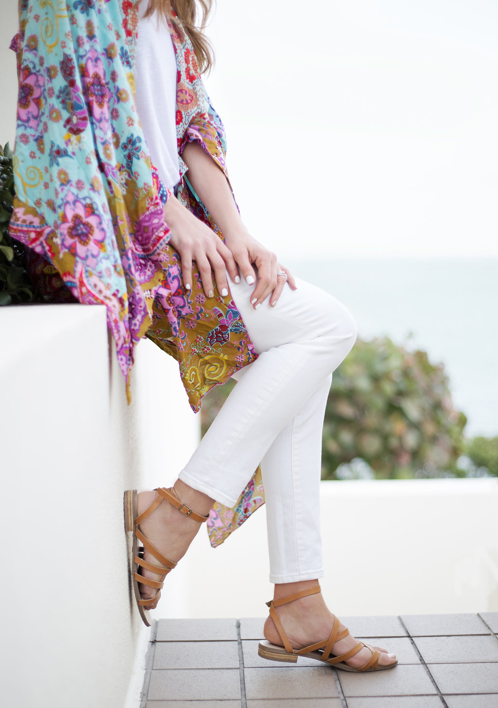The Motherchic wearing Free People kimono