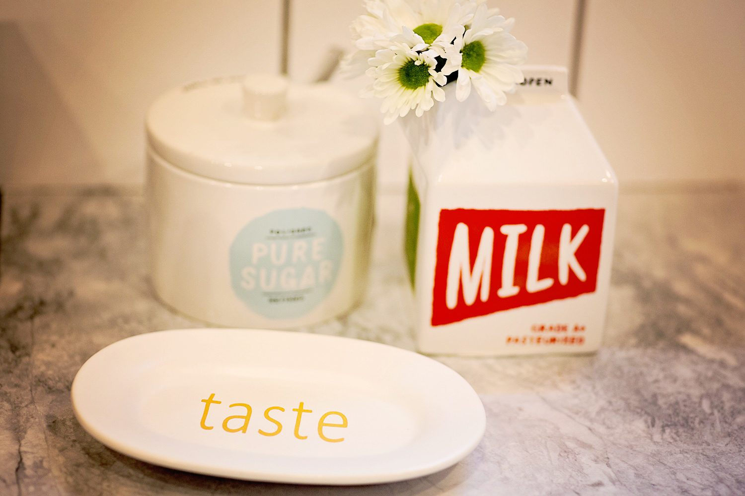 The motherchic kitchen with kate spade home decor