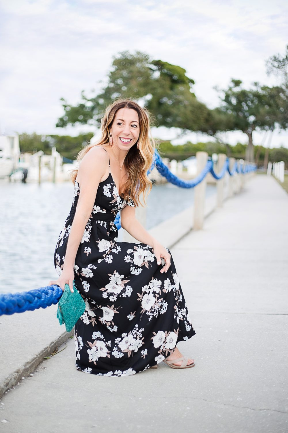 The Motherchic wearing soprano floral maxi