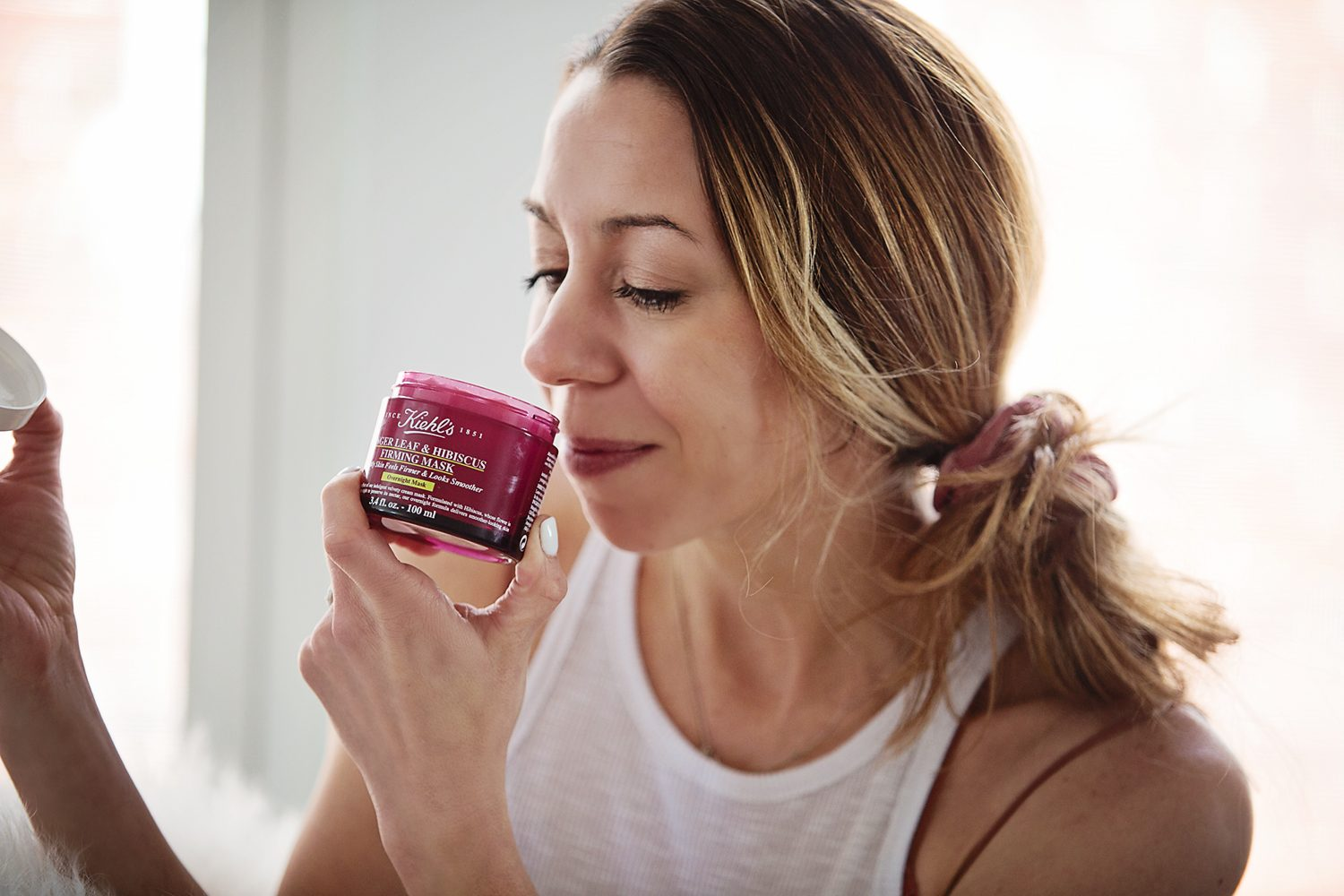The Motherchic using Kiehl's ginger leaf and hibiscus overnight mask