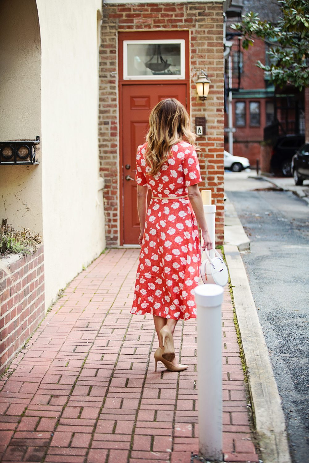 The Motherchic wearing Boden dress