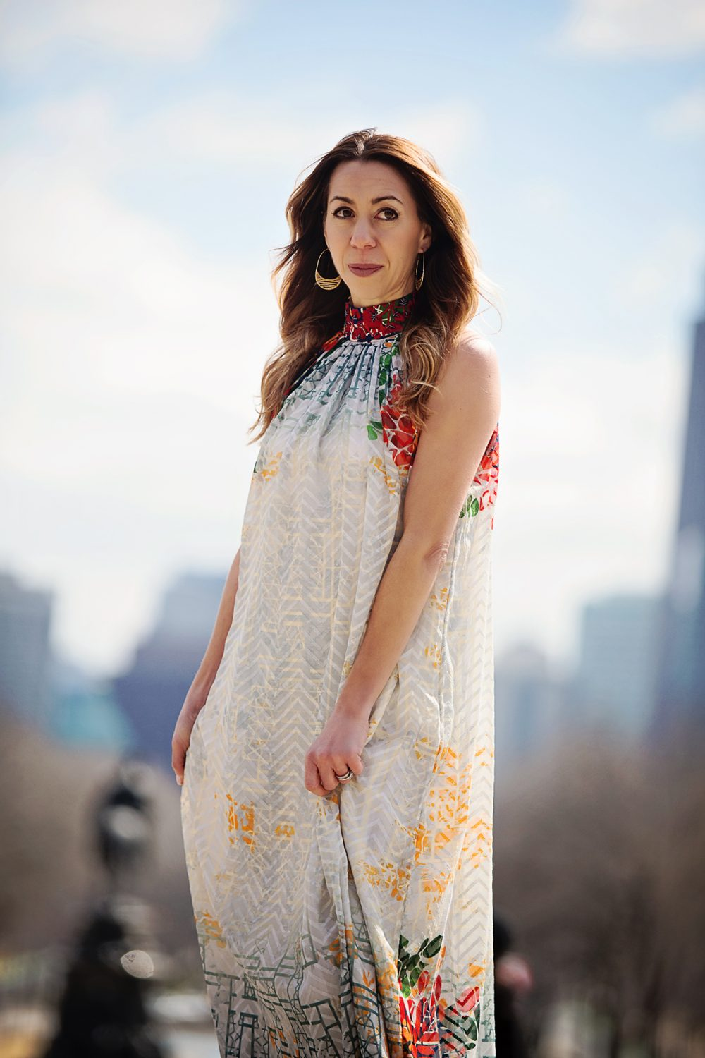 The Motherchic wearing Marilla maxi dress