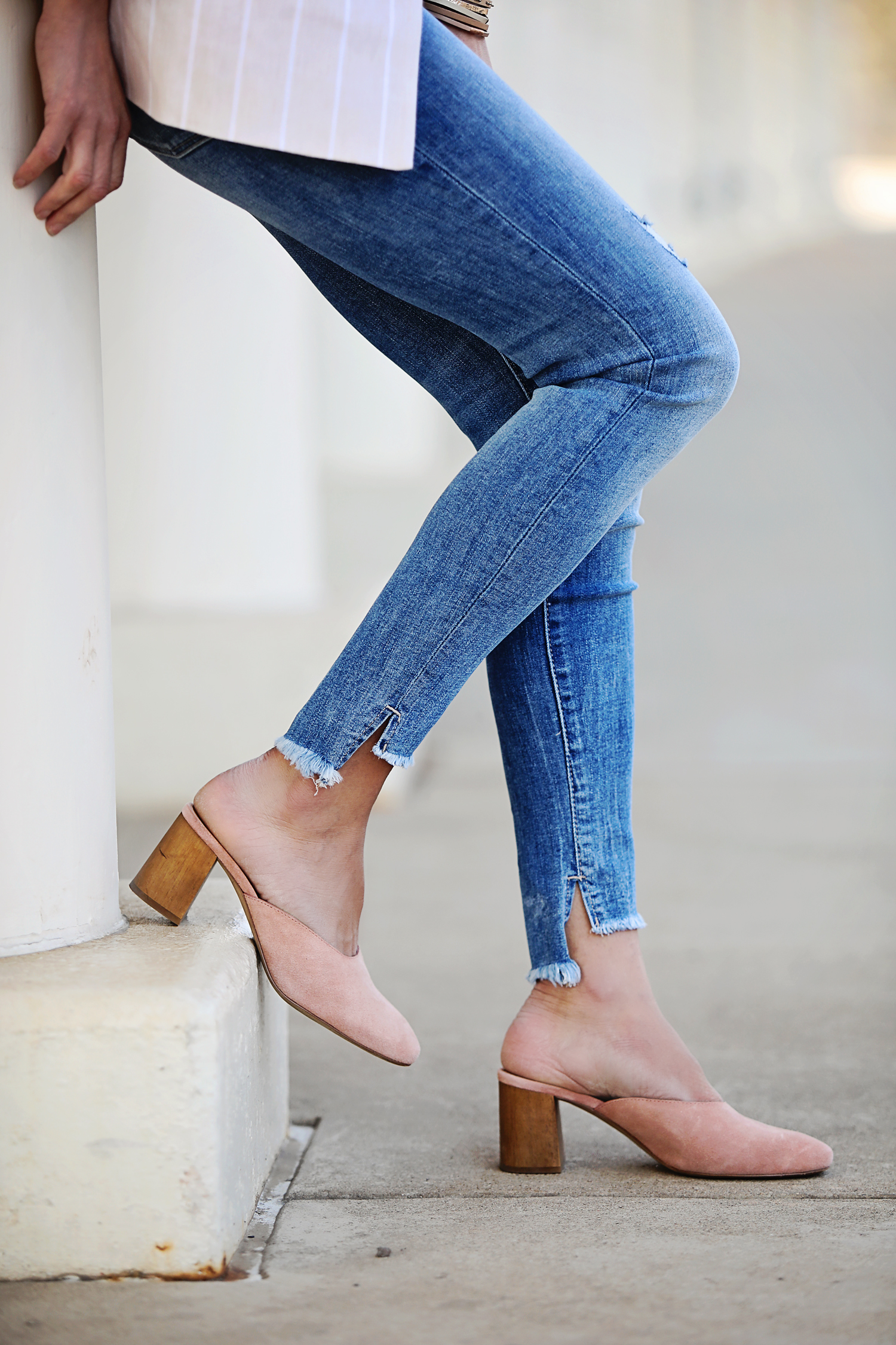 The Motherchic wearing Madewell mules