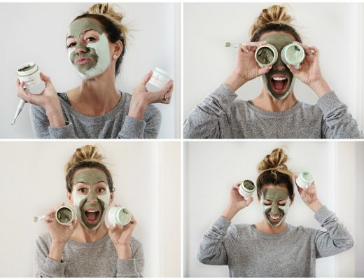 The Motherchic using Borghese mud masks