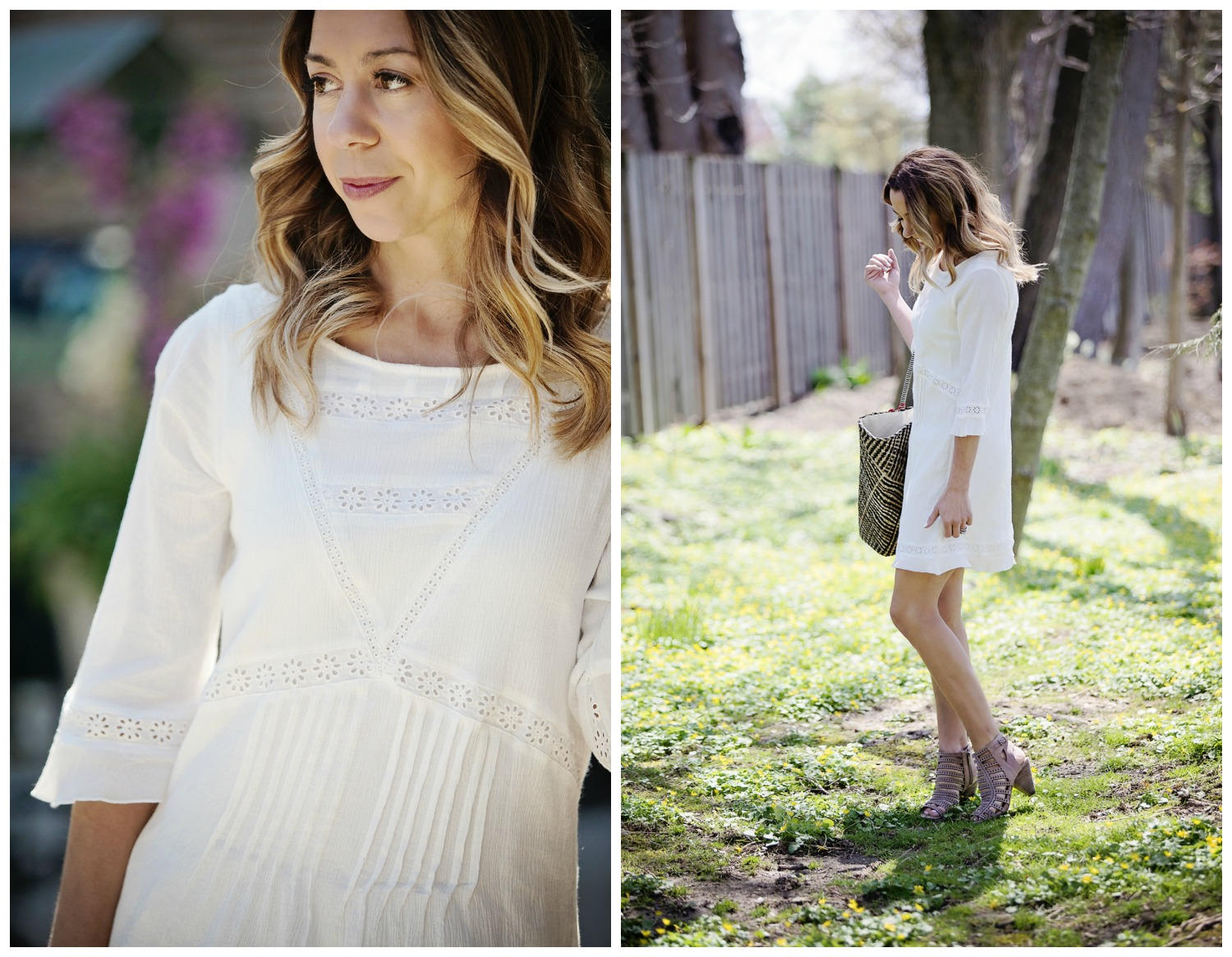 The Motherchic wearing white dress by sanctuary