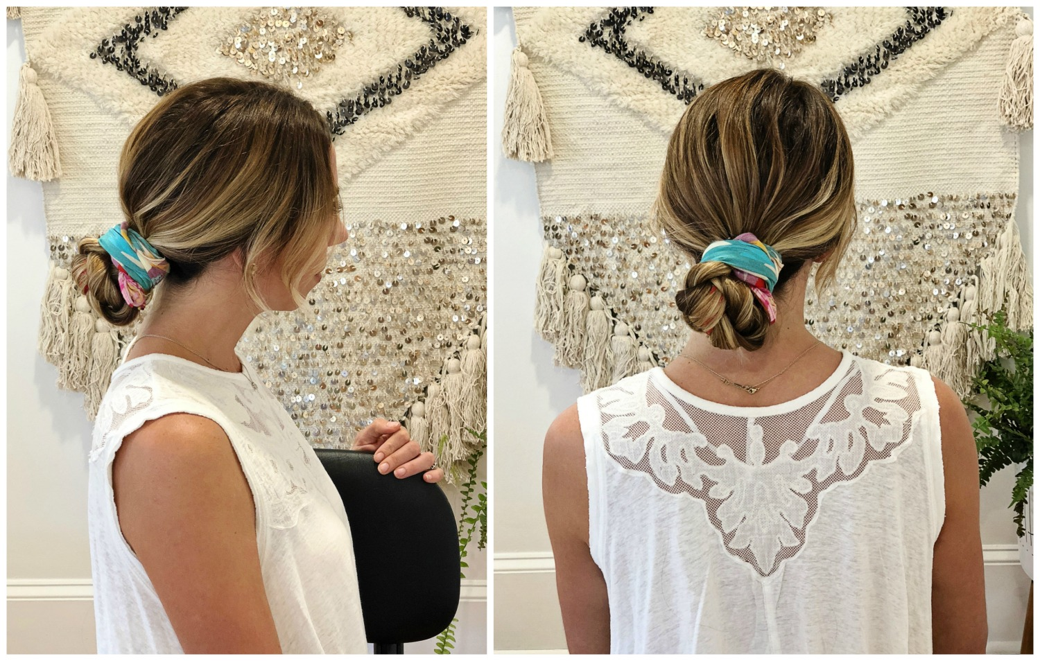 The Motherchic summer hair style