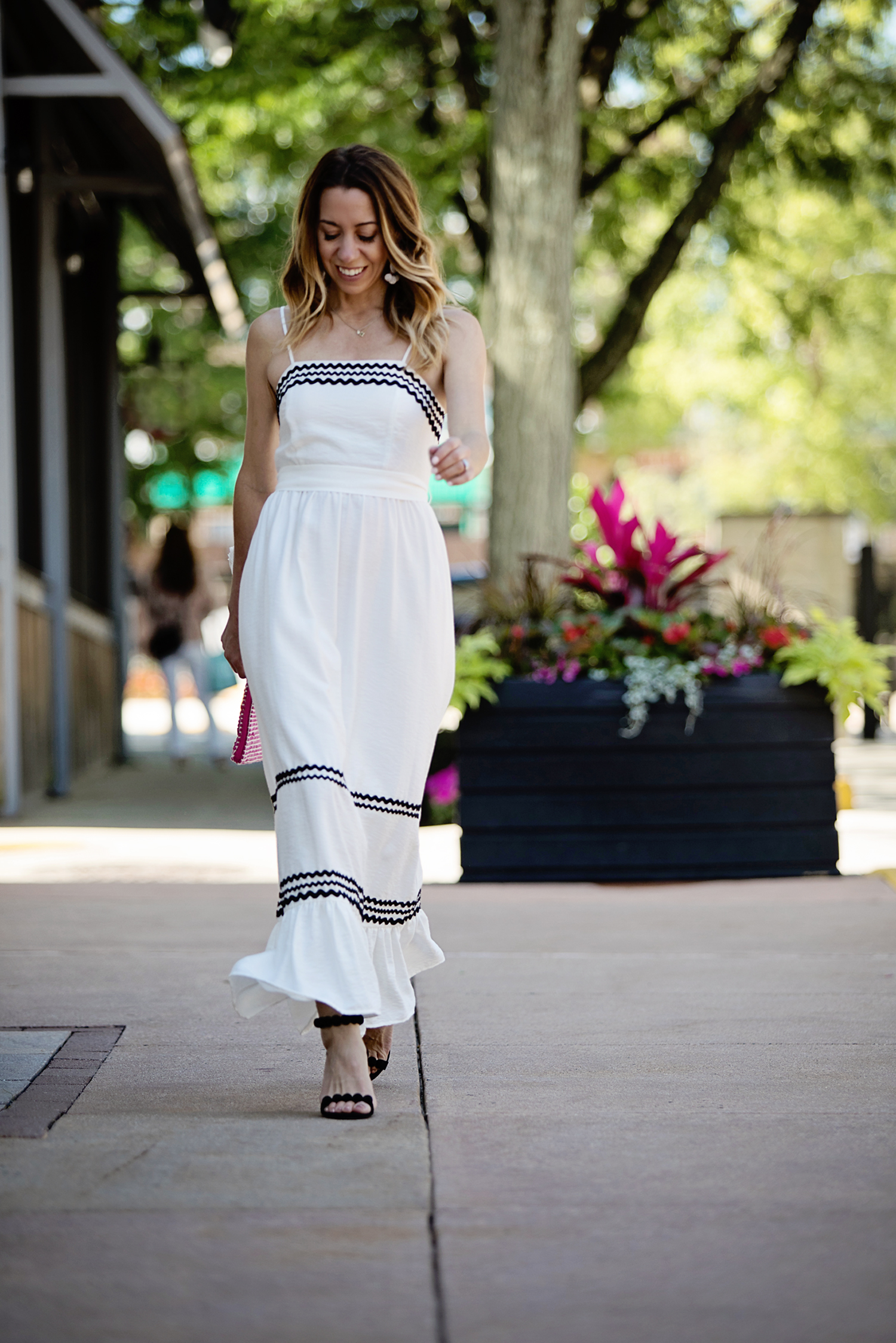 The Motherchic wearing cece maxi dress