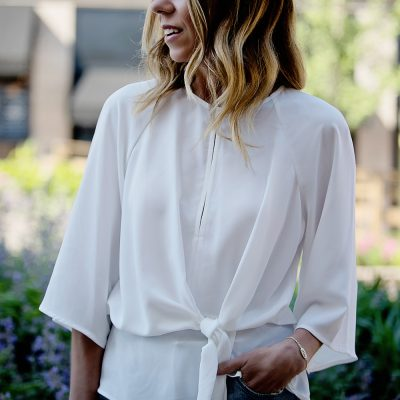 Work to Weekend Edit: The Knotted Blouse