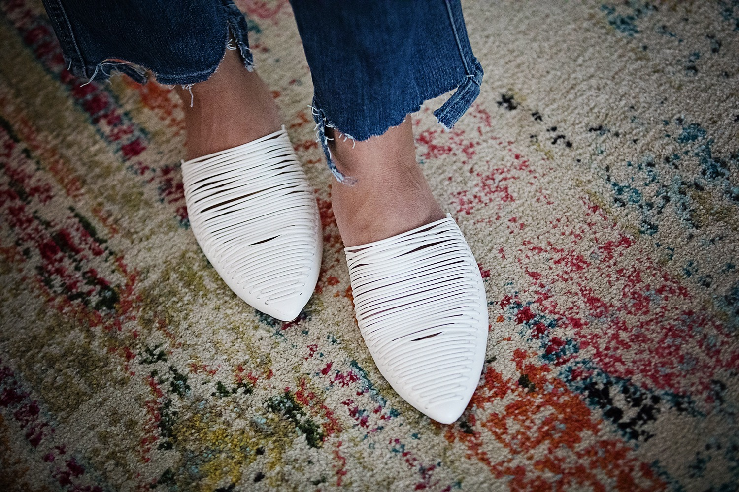 The Motherchic wearing Tory Burch mules
