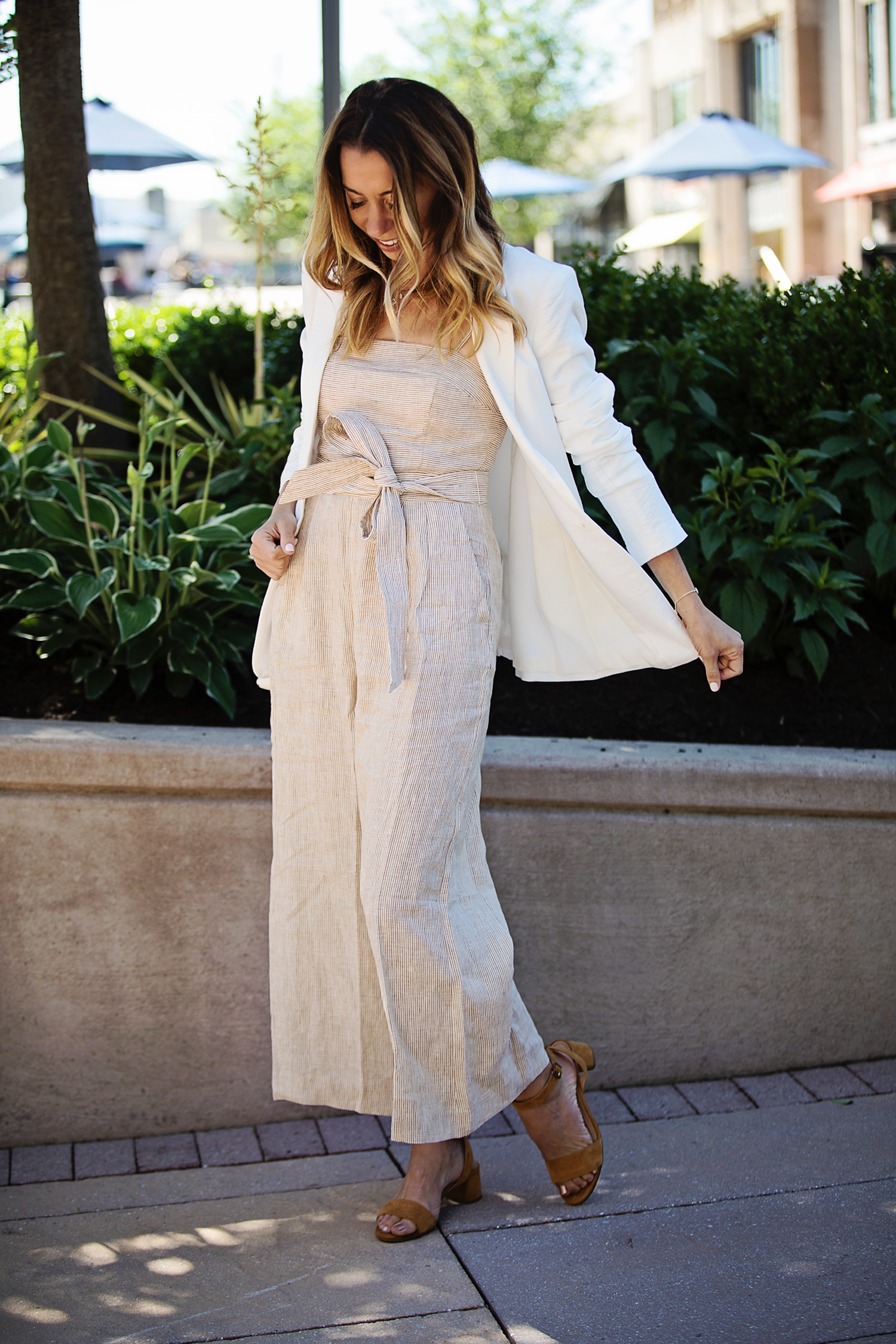 the motherchic jumpsuit and blazer