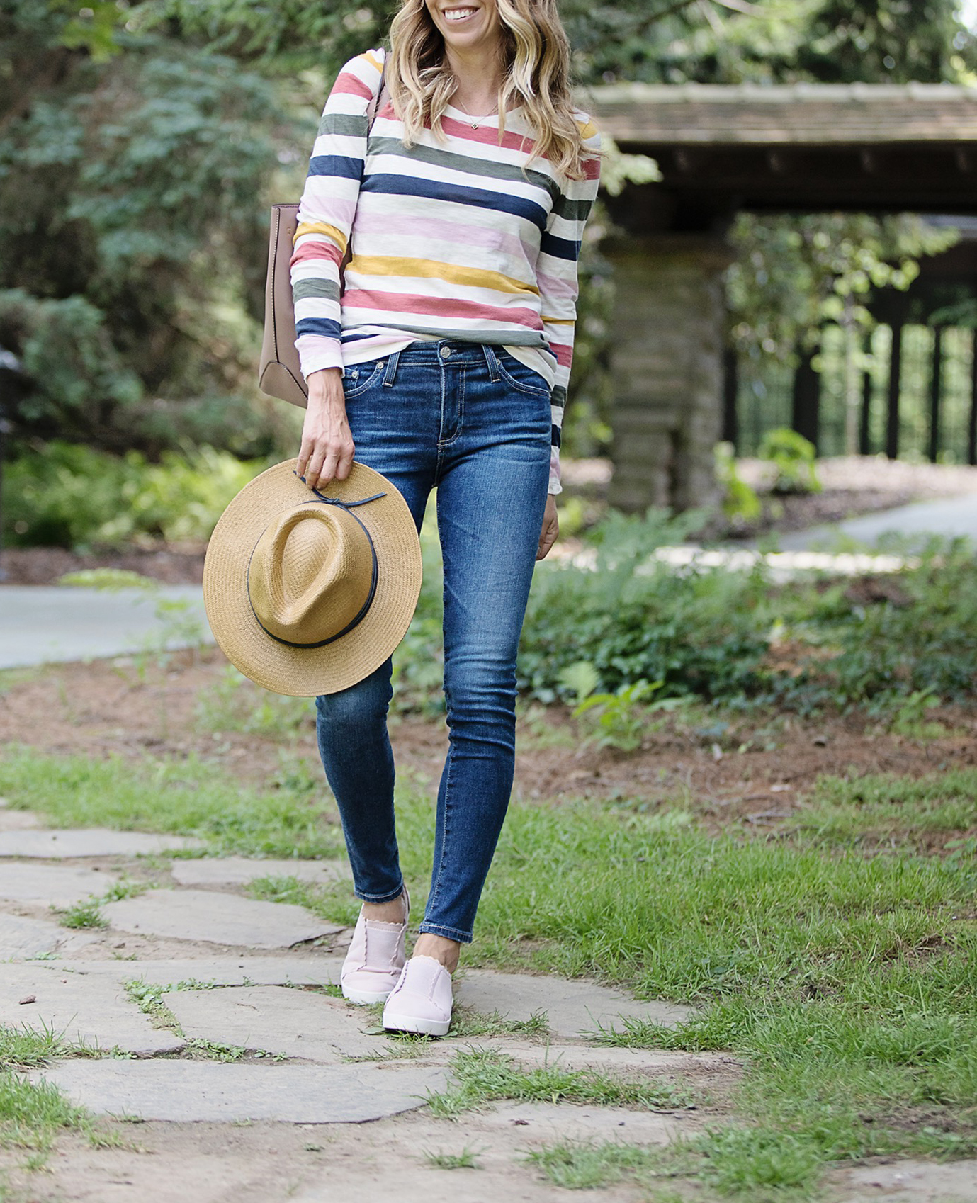 The motherchic wearing denim from the nordstrom anniversary sale