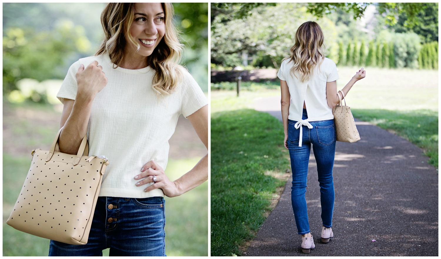 The motherchic wearing nordstrom anniversary sale madewell top