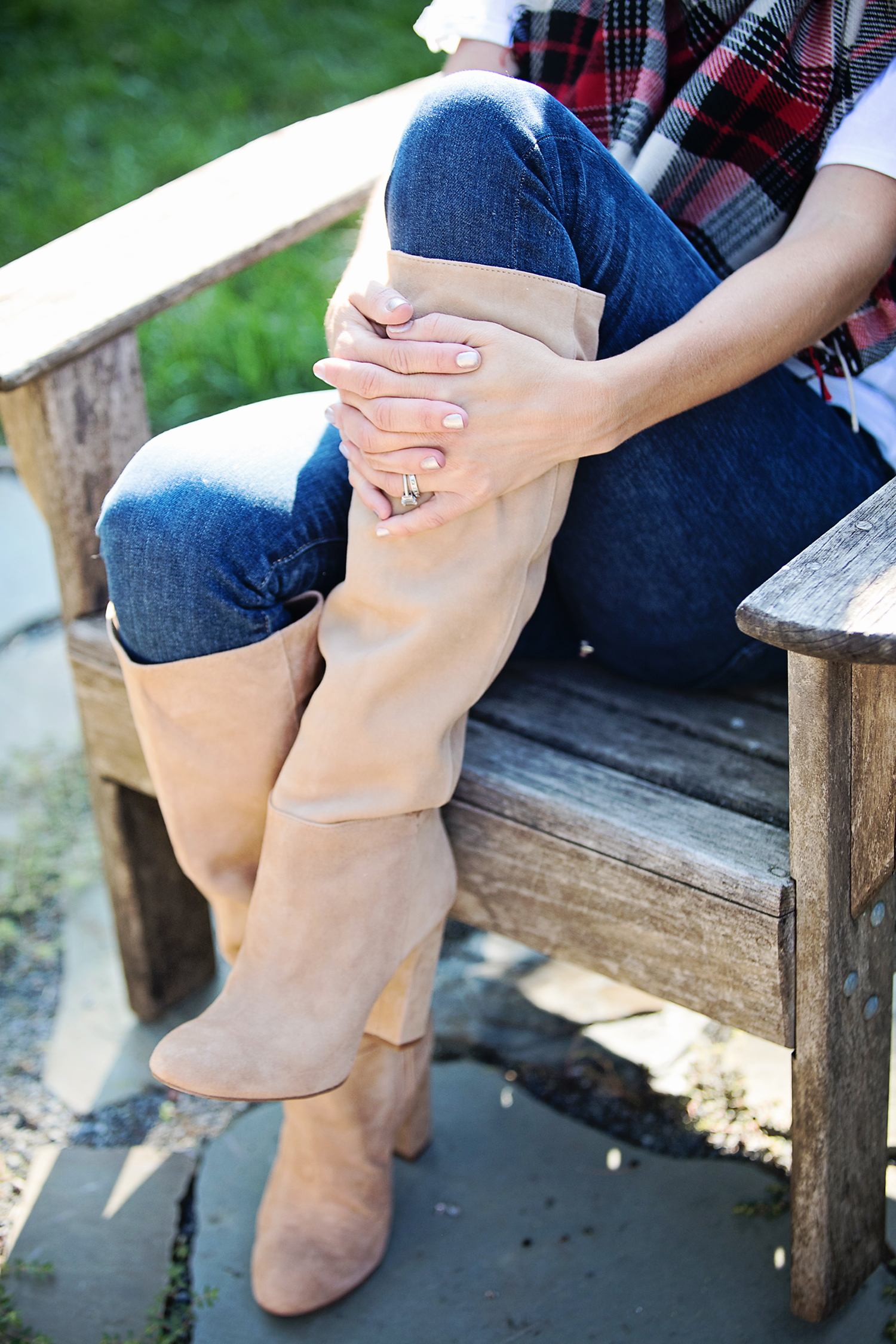 The Motherchic wearing nordstrom anniversary sale boots