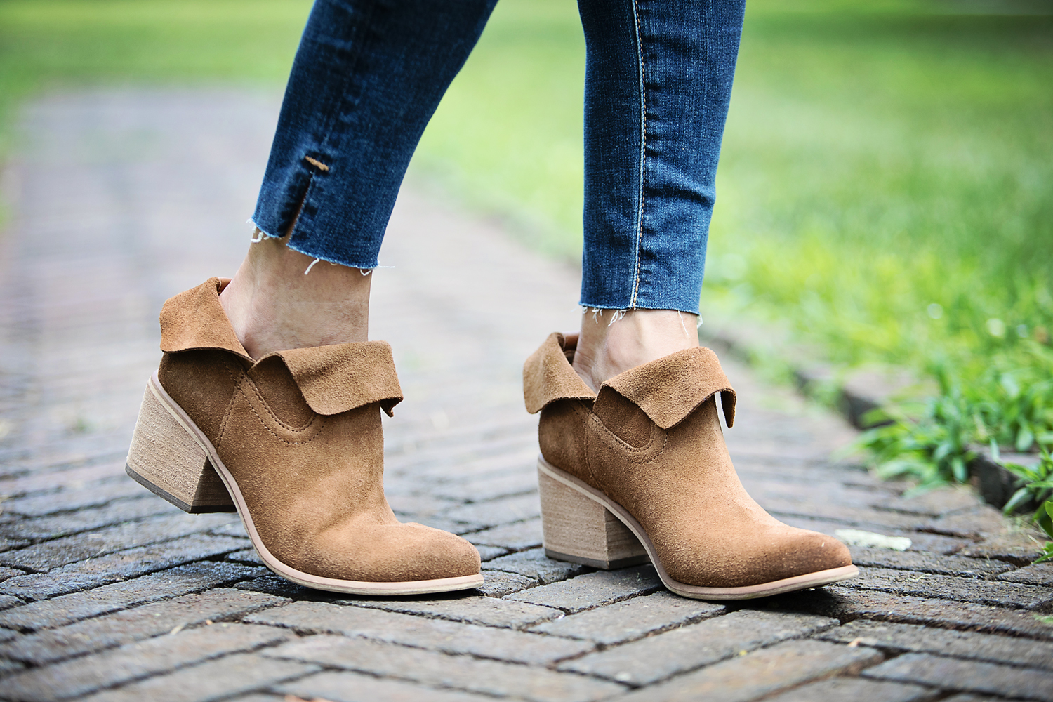 The Motherchic wearing nordstrom anniversary sale BP Booties