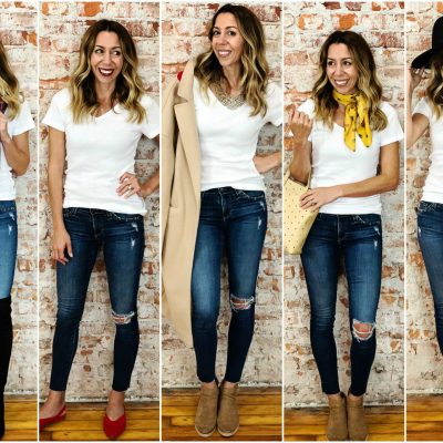 7 Ways to Style Jeans and a Tee
