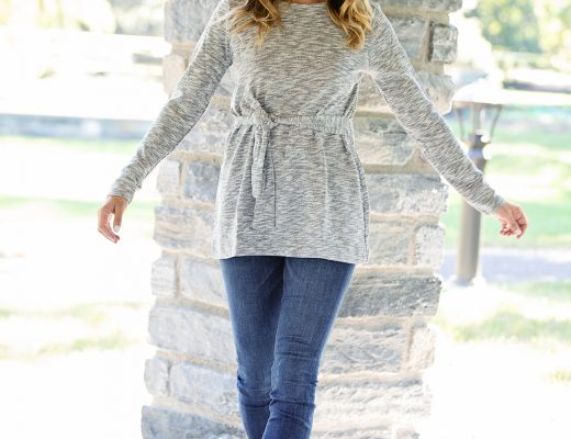 the motherchic wearing j.crew tunic
