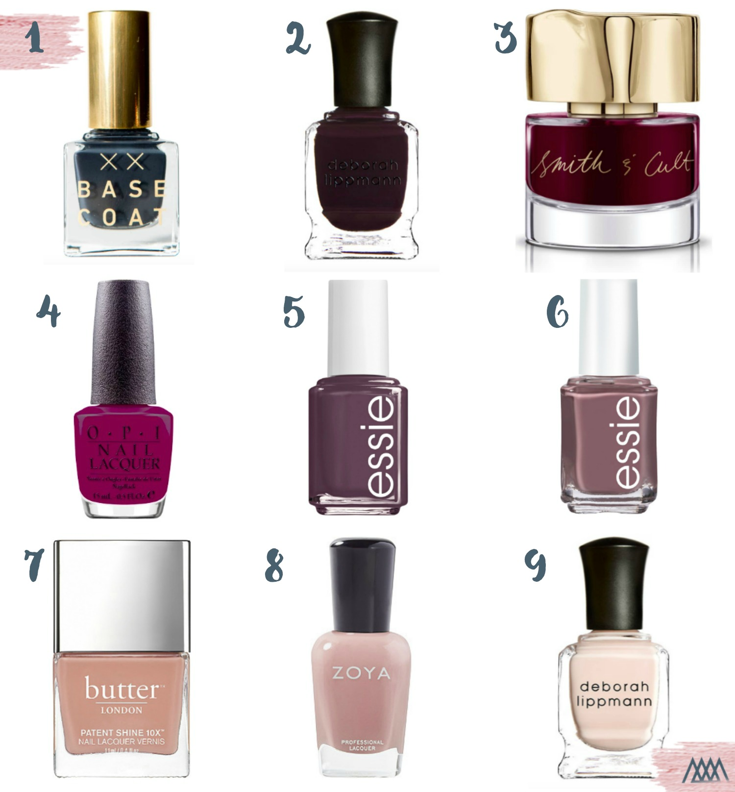 the motherchic fall nail polish