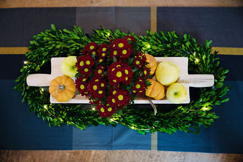 The Motherchic fall tablescape