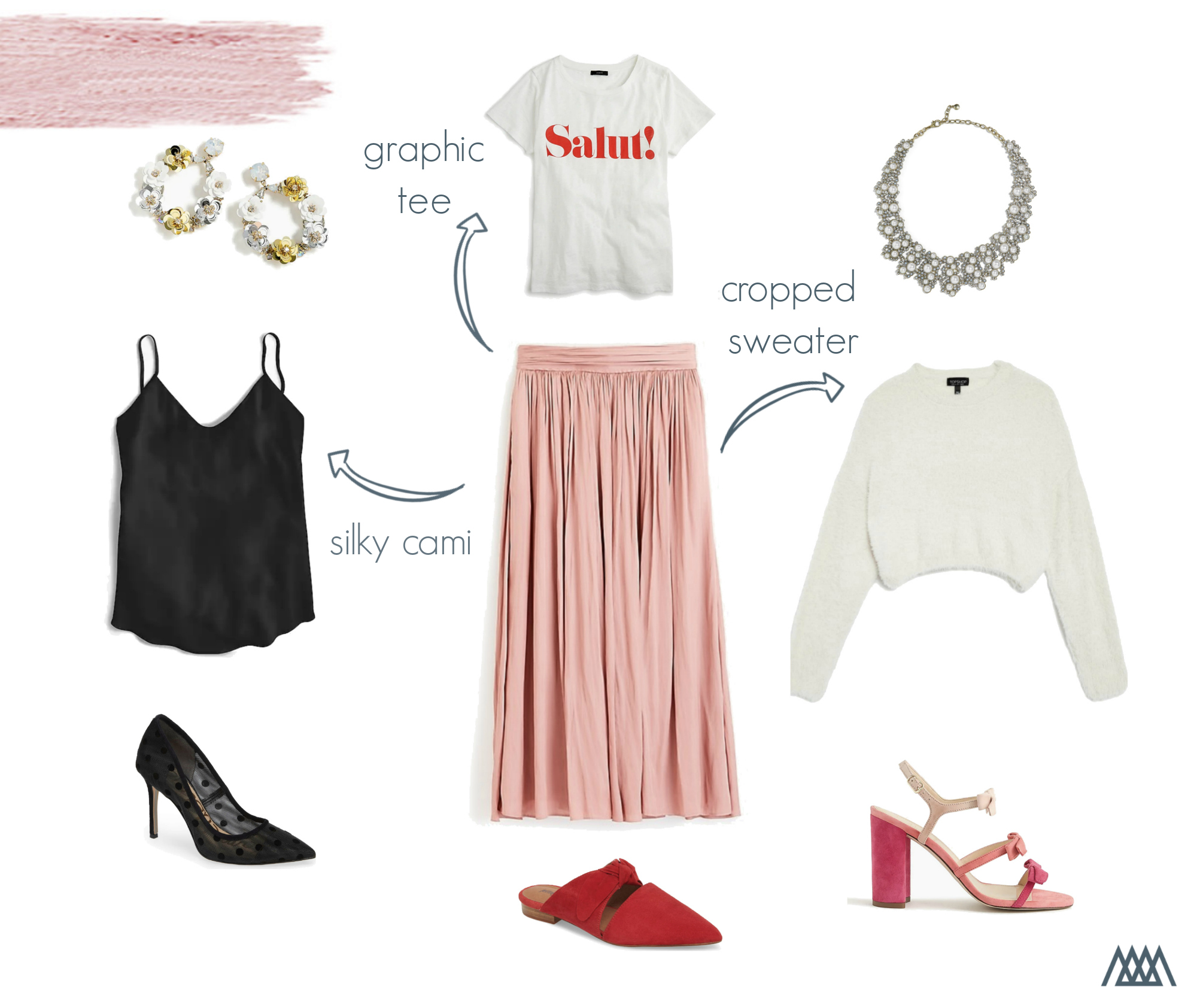 the motherchic skirt graphic