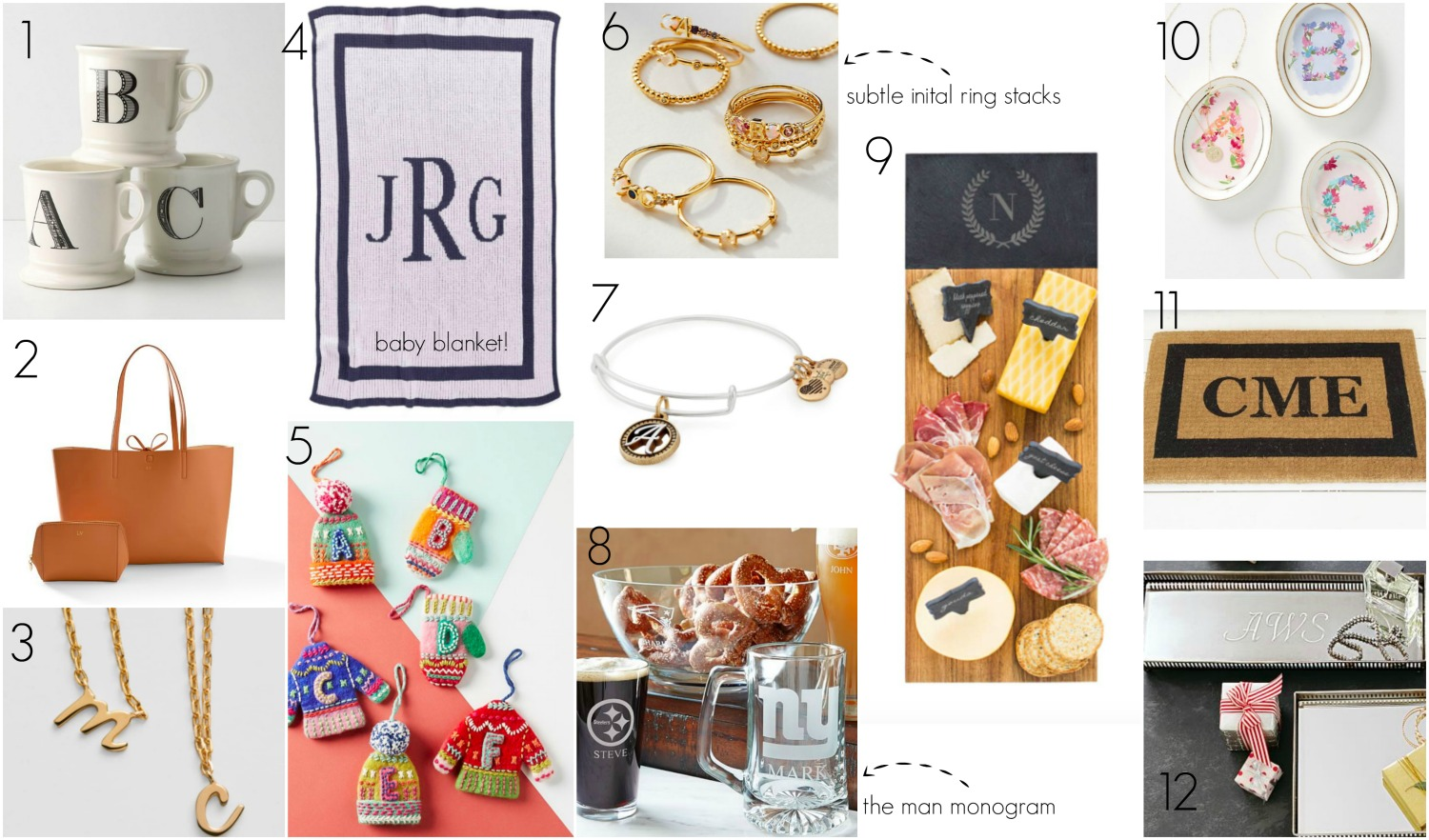 the motherchic monogram gifts