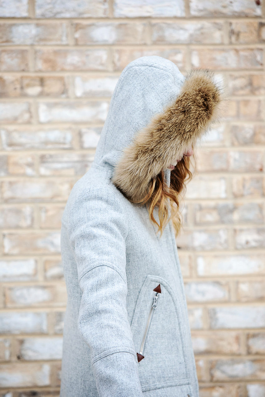 The Motherchic wearing j.crew chateau parka