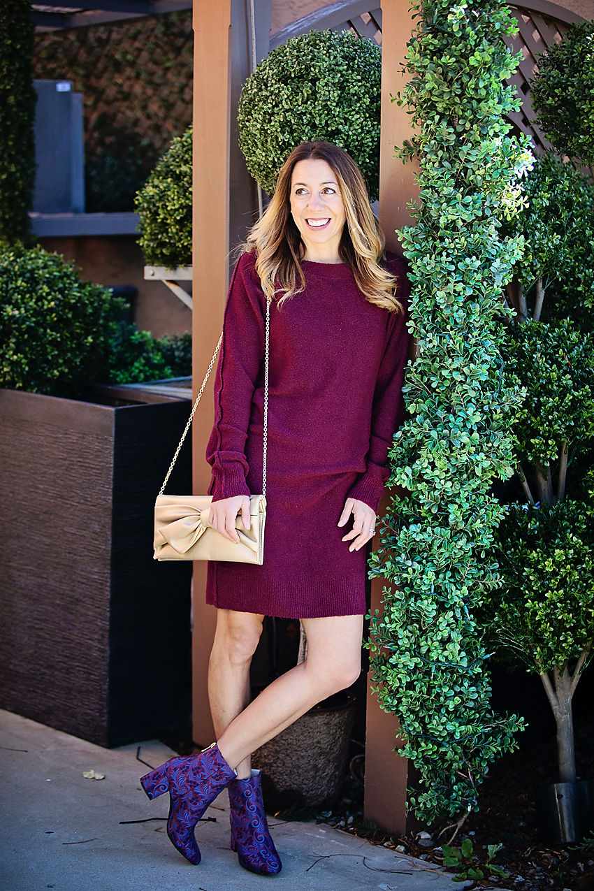 The Motherchic wearing BP sweater dress