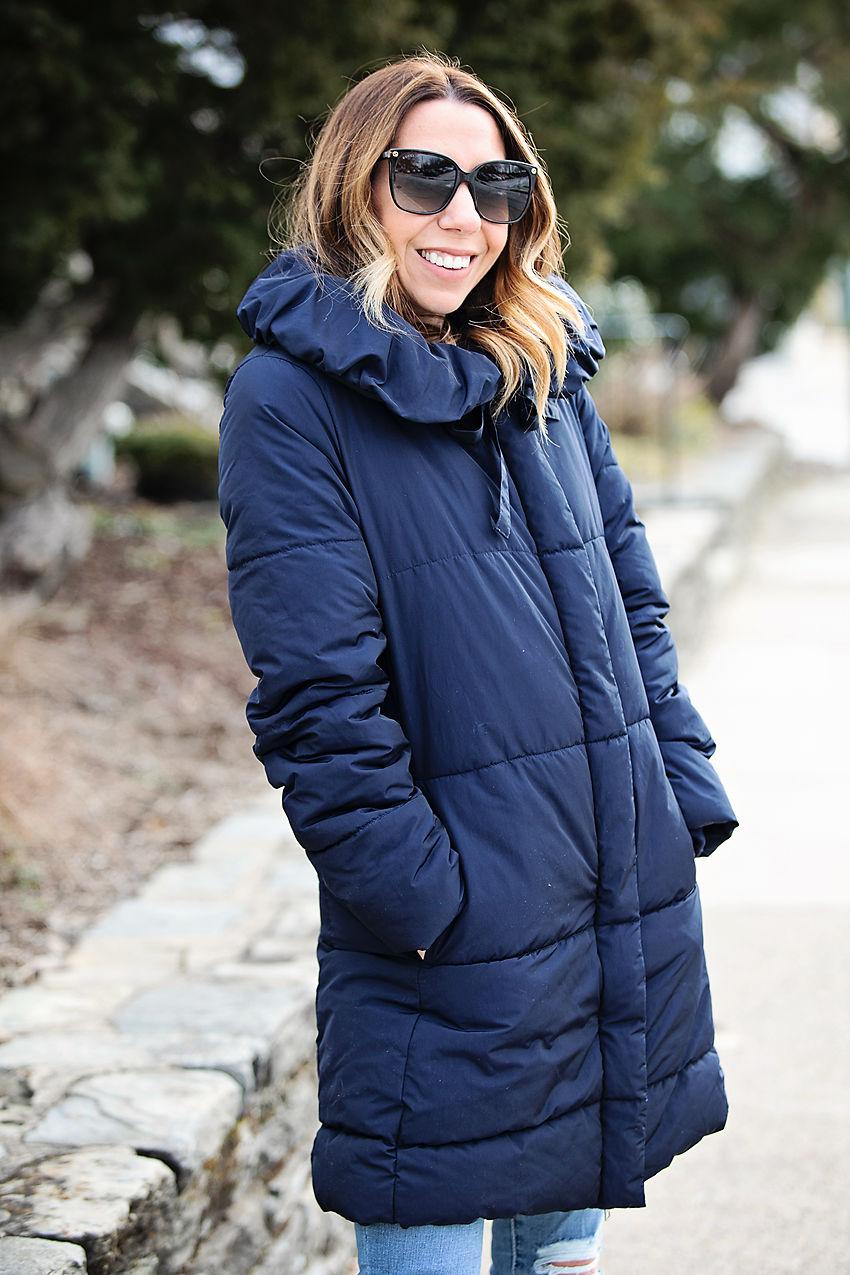 the motherchic wearing amazon jacket
