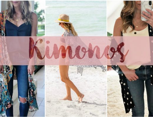 the motherchic wearing kimonos