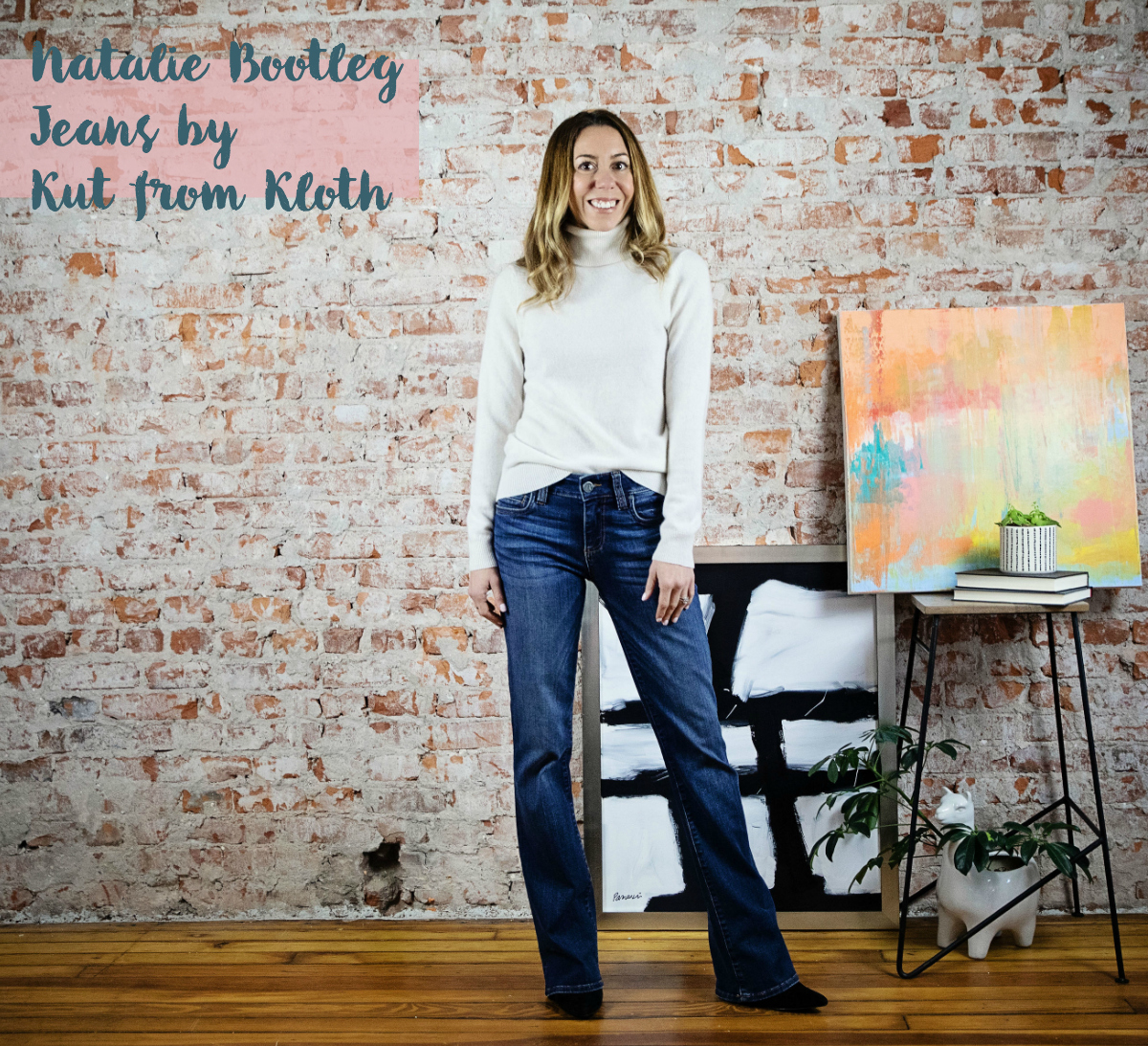 the motherchic wearing kut from kloth bootcut