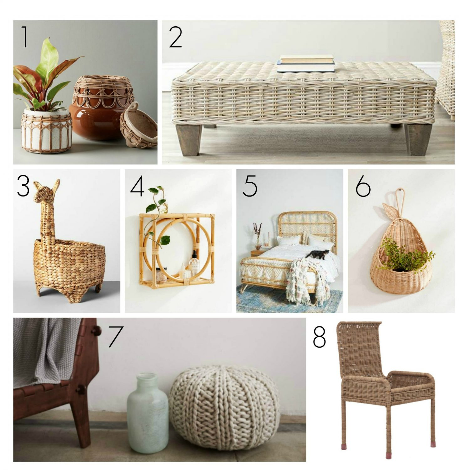 the motherchic home finds bamboo straw rattan