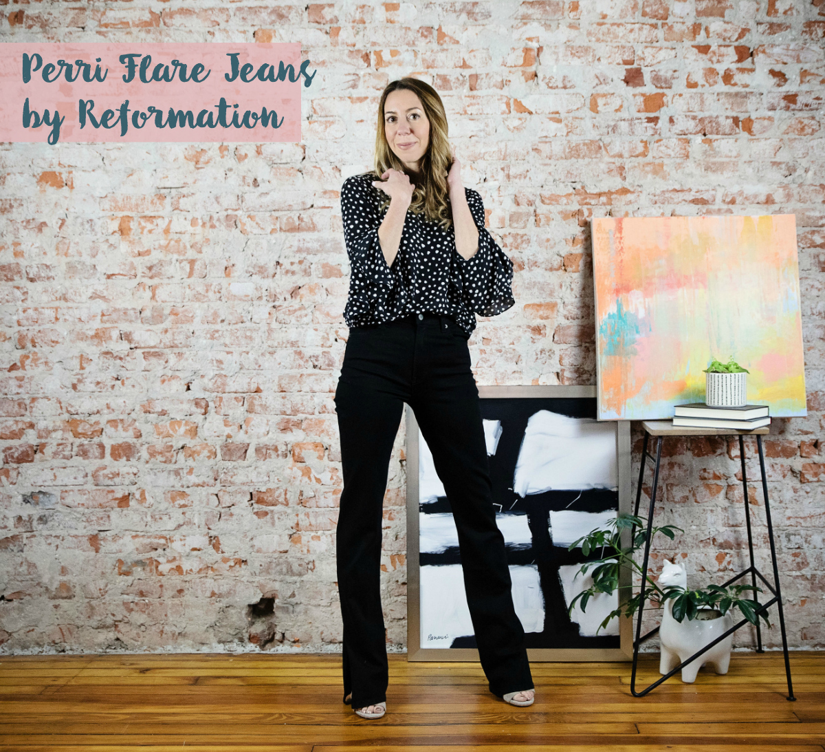 the motherchic wearing reformation flare