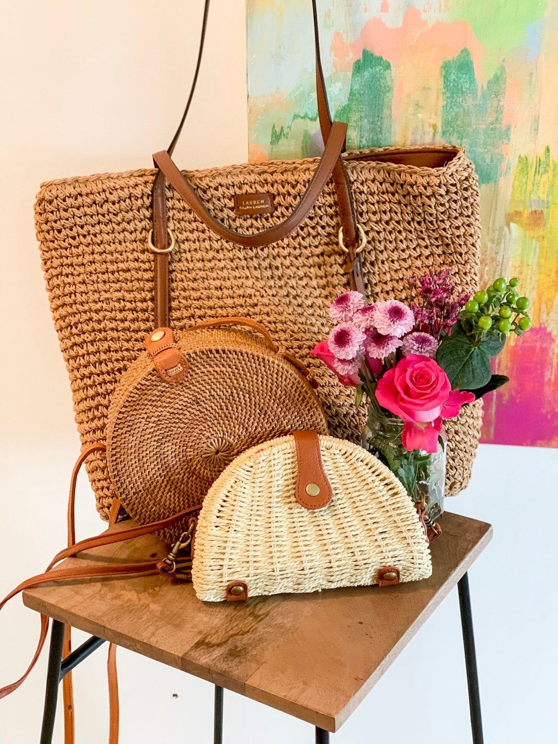 the motherchic spring bags woven bags