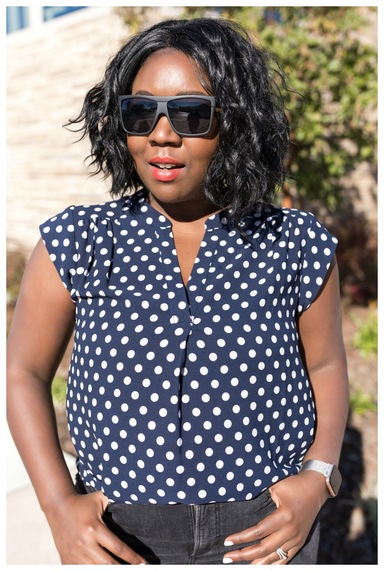The Motherchic wearing gibson international womens day collection