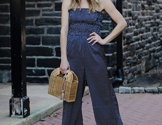 the motherchic wearing jumpsuit