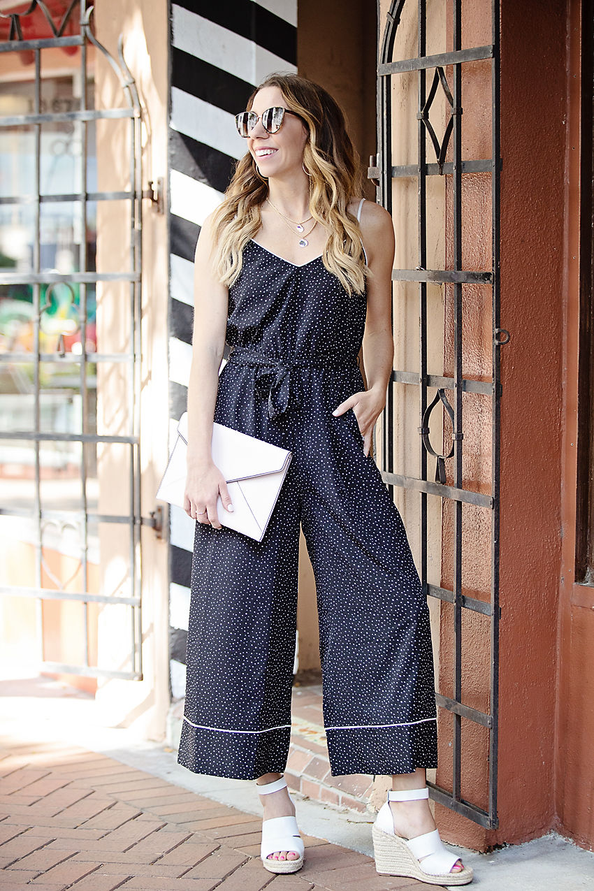 The Motherchic wearing Leith jumpsuit from Nordstrom