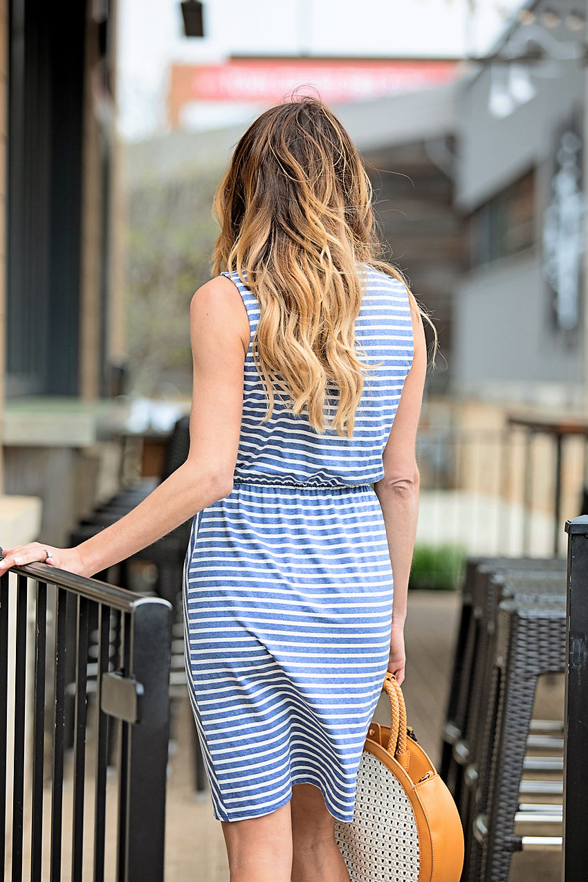 7205ba9477a65 This is one of those universally flattering styles and comes in stripes and  solid gray. This runs true to size.