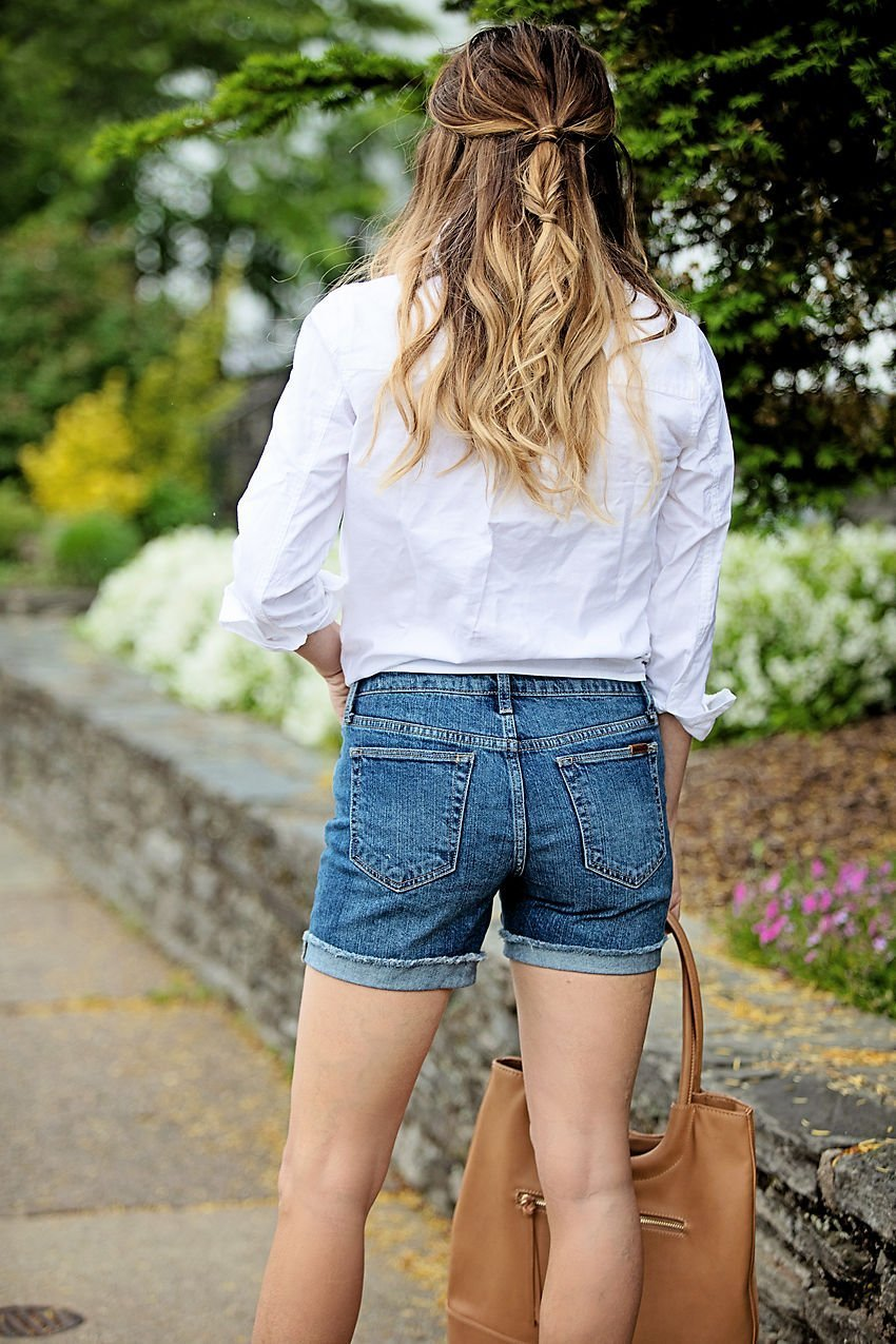 the motherchic denim shorts nordstrom