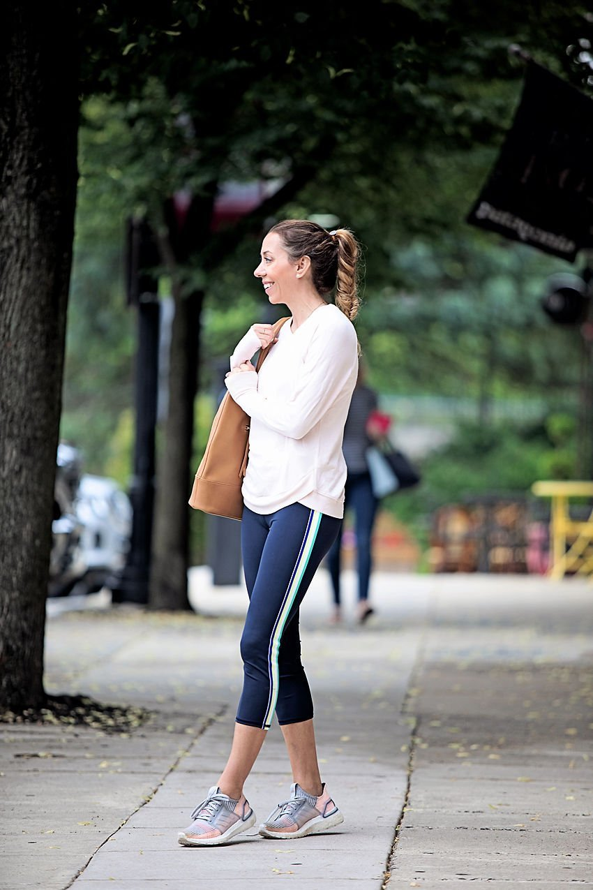The Motherchic wearing Athleta