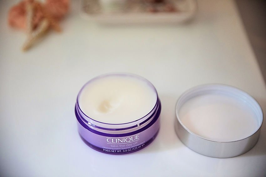The Motherchic skincare routine with Macy's using Clinique cleansing balm