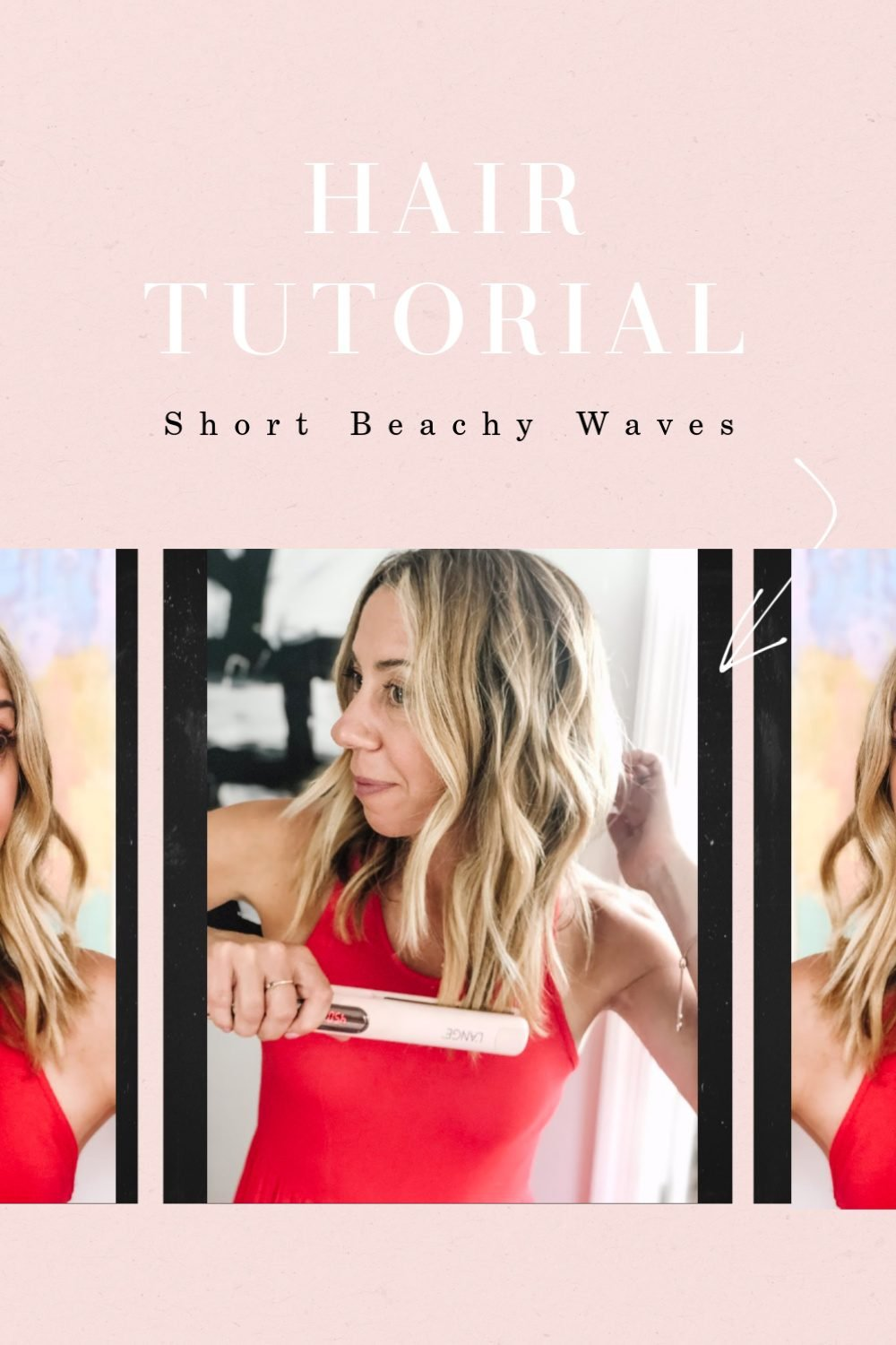 The Motherchic short beachy waves tutorial