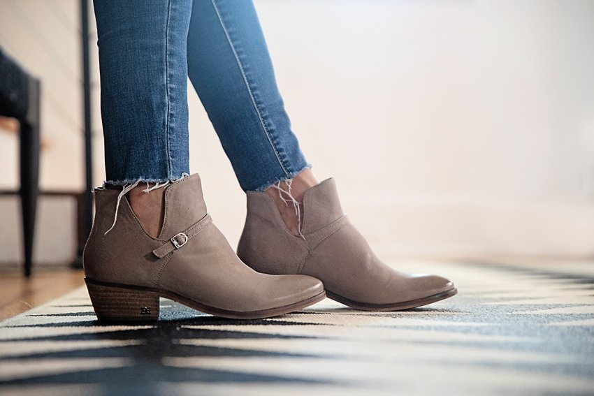 The Motherchic wearing Sam Edelman Palmer Bootie