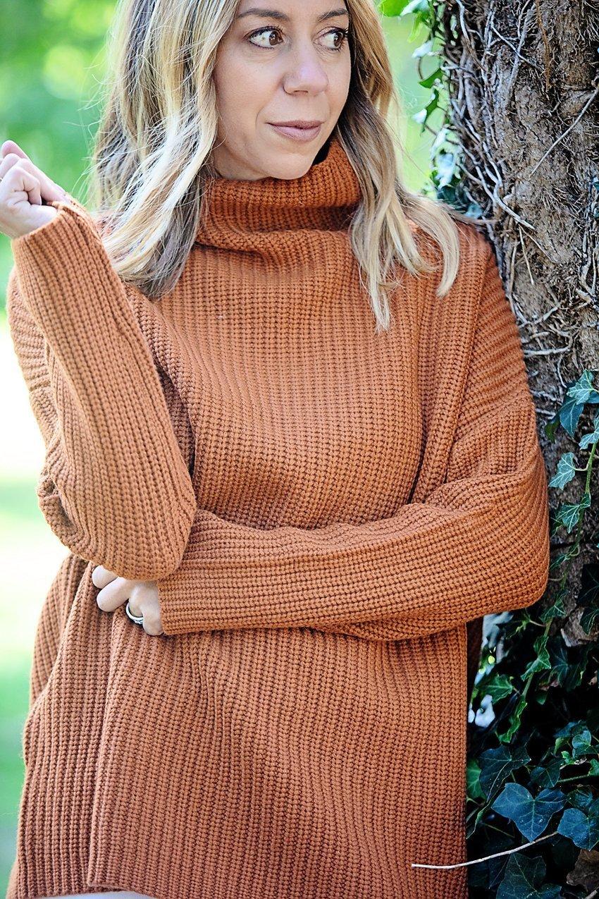 The Motherchic wearing Naadam sweater